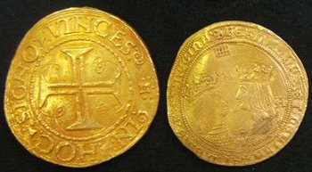 Gold coins from the Bom Jesus - Courtesy J.M. Malhão Pereira