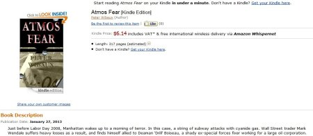 Atmos Fear - Kindle style. Another hitchhiker takes to the digital highway.