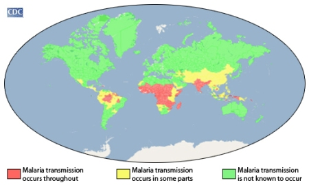 Where in the world is malaria? A primer from the U.S. Centers for DIsease Control.