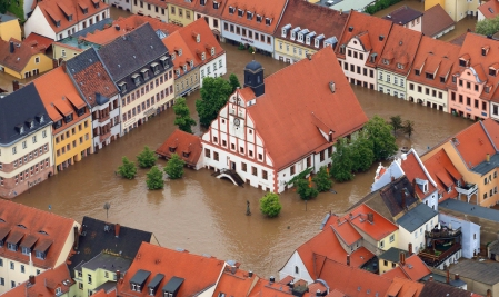 Grimma by name, girmma by nature. Flooding in Germany in early June 2013.