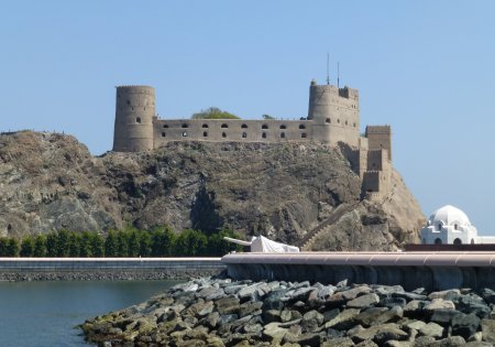 Al-Jalali, the Arab name for the fort of São João, or saint John, guards the harbor entrance to Muscat.
