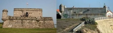 Fort Matanzas, Florida, and the Forte de Sao Joao, Portugal, bear a close resemblance to each other (Matanzas is on the left).