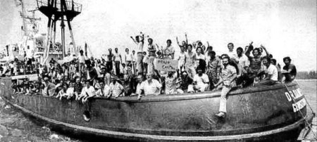 The Mariel boatlift in 1980. Mass Latino immigration to South Florida.