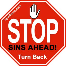Banner from an Islamic site that analyses why we sin.