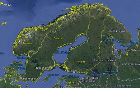 The Solovetsky Islands, from which the zeks that built the White Sea Canal were drawn. The facility would mean a major reduction in sailing time from the Barents Sea to Stockholm or Leningrad.