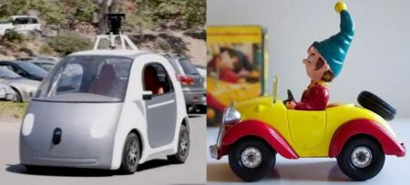 The new Google pod, a XXIst century Noddy car.