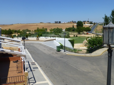 The view from the church: all the ria has disappeared, replaced by a fertile valley.