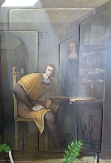 Pedro Alonso Niño, in a painting at the Franciscan monastery in La Rábida.