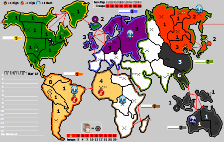 Risk: a board game on world dominance, for two to six players.