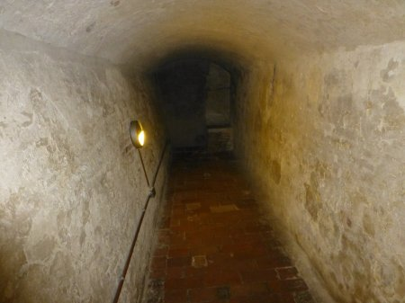 The dungeon where Parisina (Laura) Malatesta was held before her execution.