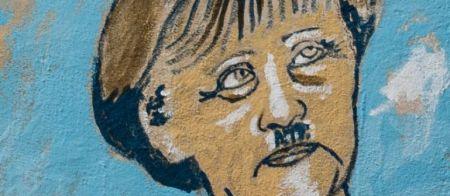 Adolf Merkel, a Der Spiegel depiction of a particular European view of Germany.