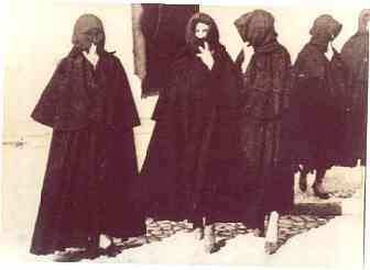 The bioco, or burqa, worn in Olhão until the 1930's.