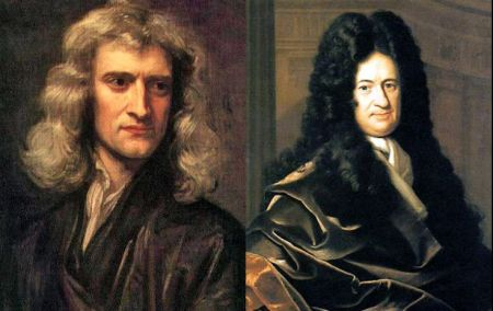 Newton and Leibniz, two academics who defined science as we know it today.