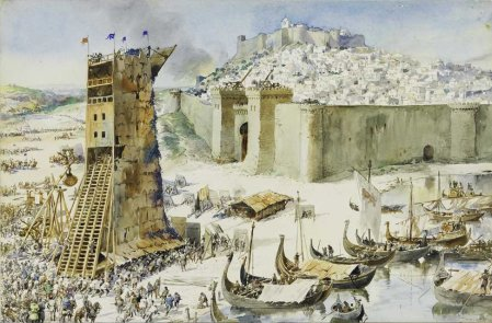 The siege of Lisbon, in 1147. The crusaders stopped off to lend a hand.