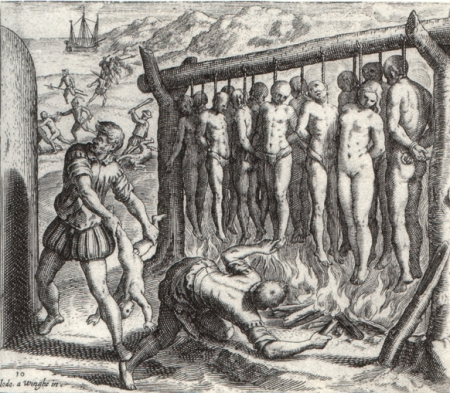 'Indians' of the Caribbean at the tender mercy of the Spanish.