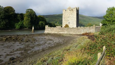 The castle at Narrow Water, at the top of Carlingford Lough.