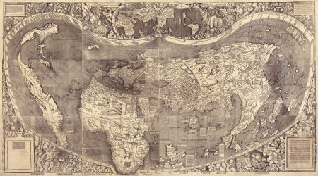 The map was made as a tribute to Amerigo Vespucci. Unfortunately, the man after whom America is named was a complete hoax-but that's another story.