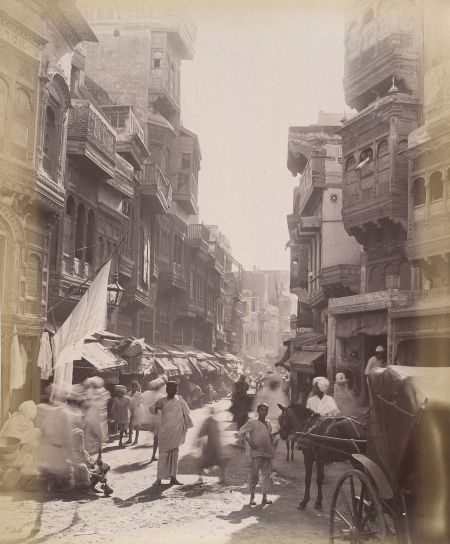 The capital of Punjab in the late nineteenth century, in the days of the British Raj.