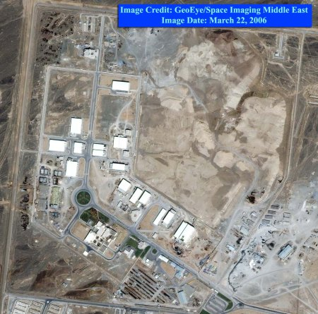 The view from the top: an image from 2006 of the Iranian nuclear facility at Natanz.