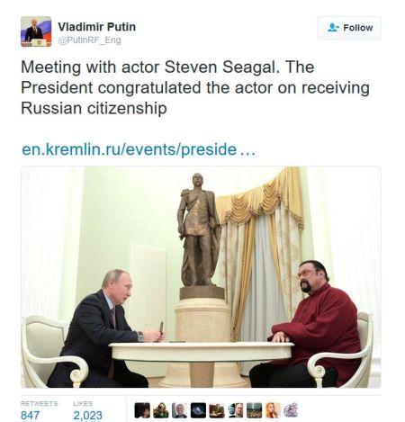 Does Putin tweet? Da, you bet!