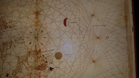 The Sargasso Sea, represented on a map from 1436, over half a century before Columbus sailed.